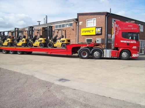 Wakefields low loader in action